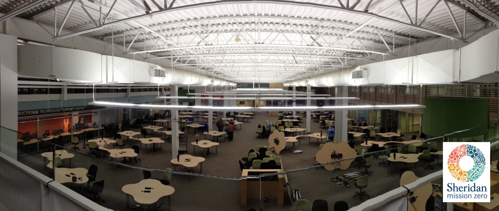 Learning Commons before the LED light swap.