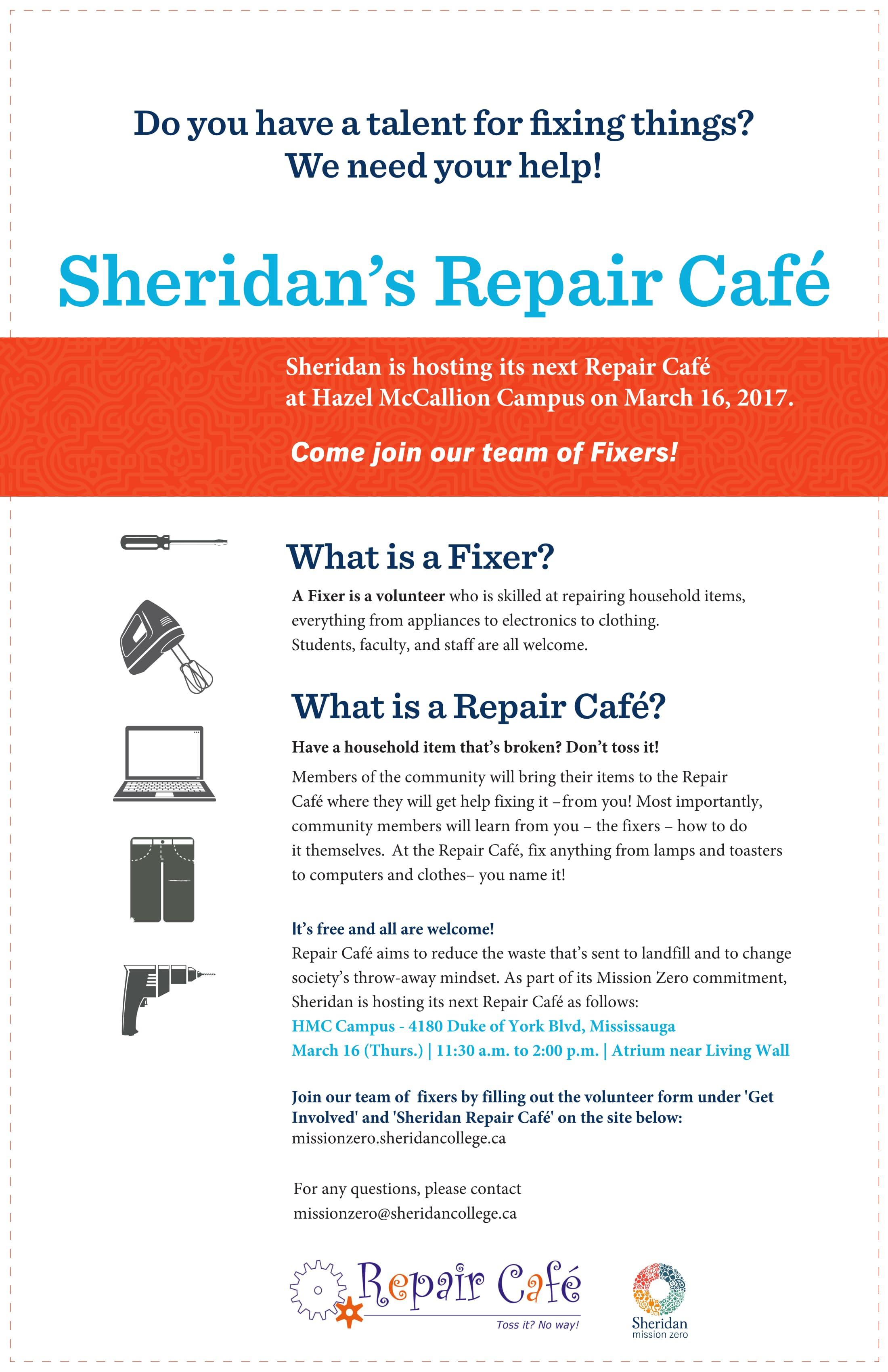 Next Repair Café – March 16!