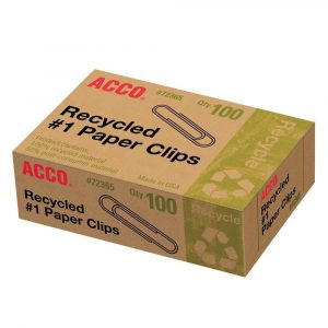 Photo of a paperclip box.