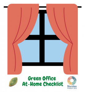 Green Office At-Home Checklist - Two drapes over a window.